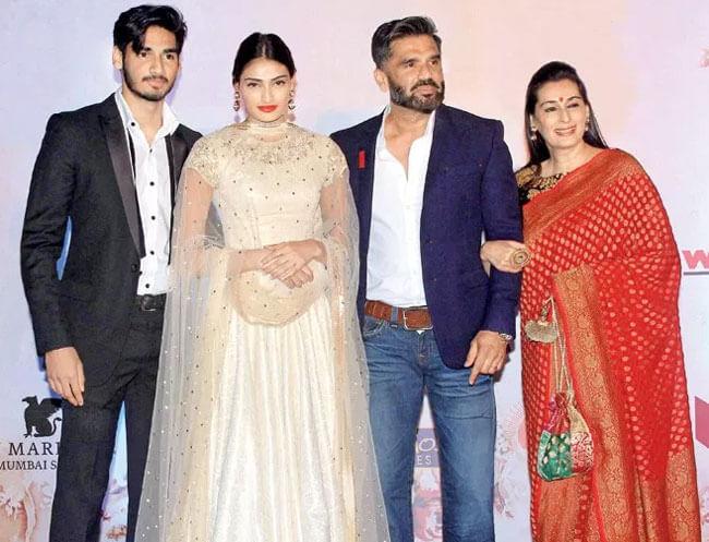 Ahan Shetty Family